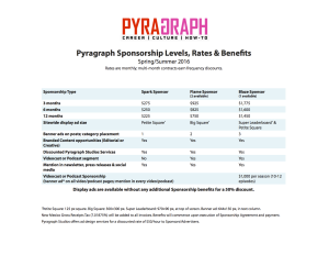Sponsorship Rates and Benefits - Pyragraph