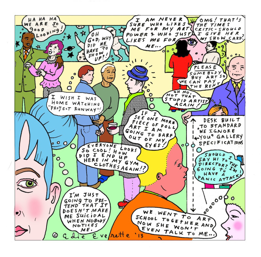 Edie Everette cartoon