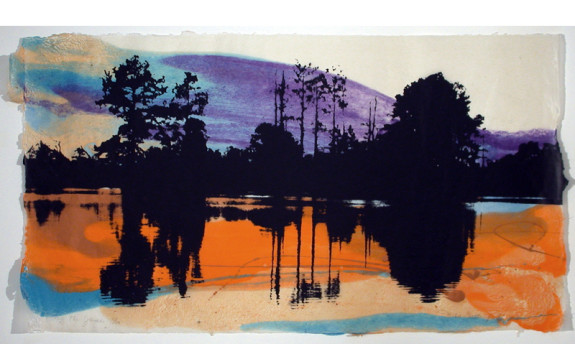 """Along the James 5"" by Jackie Battenfield. Screenprint over hand-made paper"
