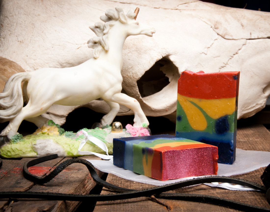 Outlaw Soaps Unicorn Poop soap