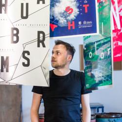 Polish poster designer Krzysztof Iwanski.