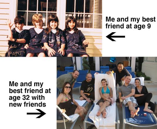 It's no harder to make new friends in your 30s than your first 10 years. See pics of my best friends. - Pyragraph