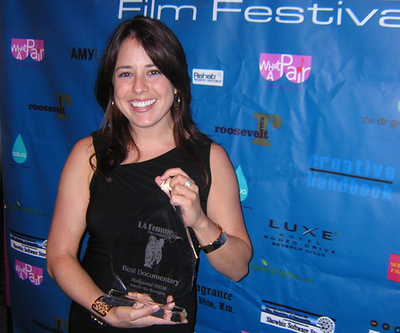 Winning Best Documentary at a film fest in 2007. Best day ever
