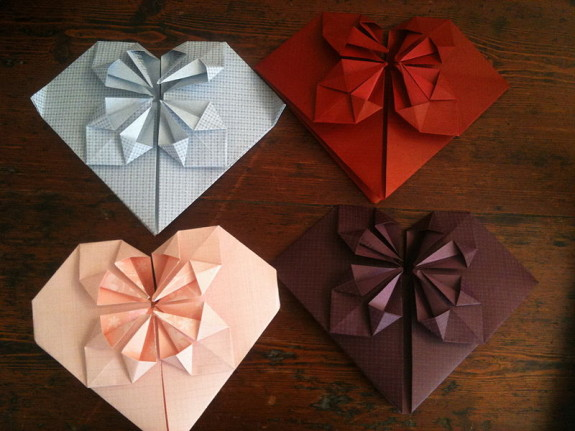 Sometimes rejection letters come in the form of origami hearts - Pyragraph