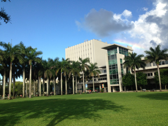 Should I go to grad school? Miami campus, rainbow, and a few clouds - Pyragraph