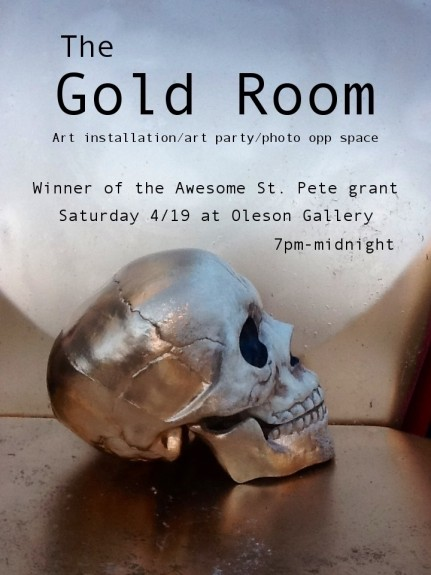 Poster for The Gold Room, also made possible through working with my artist consultant