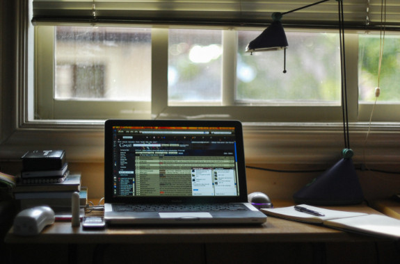 Keep organized in every way you can: on your desk, on your laptop, in your head