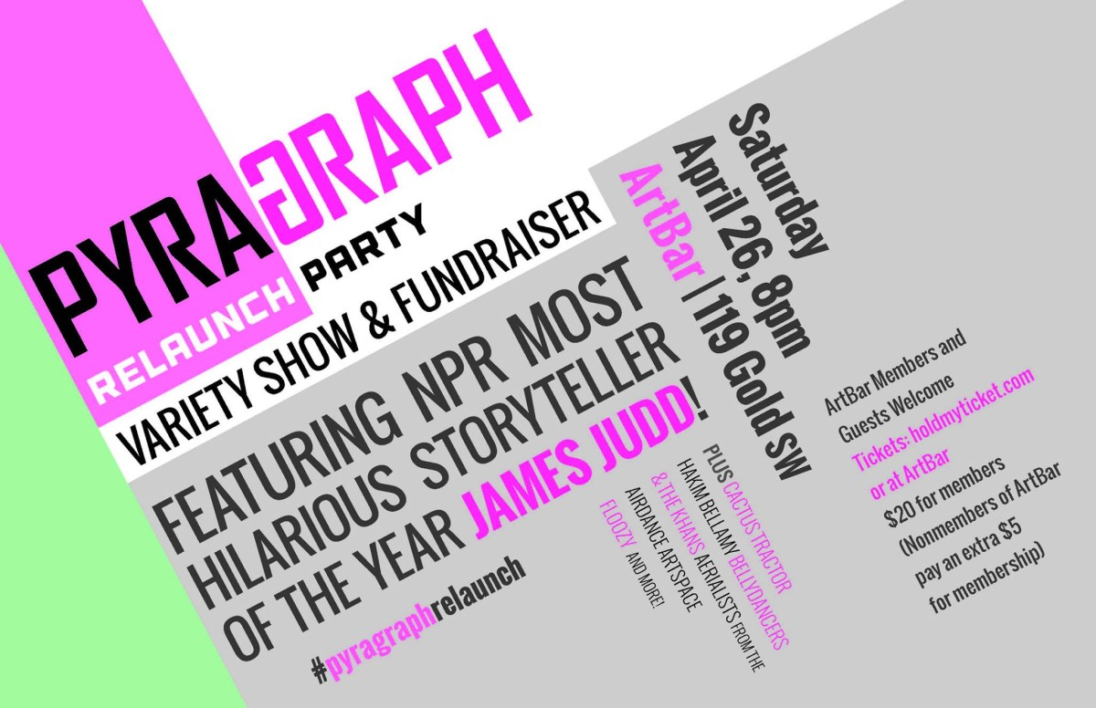 Pyragraph ReLaunch Variety Show & Fundraiser with James Judd