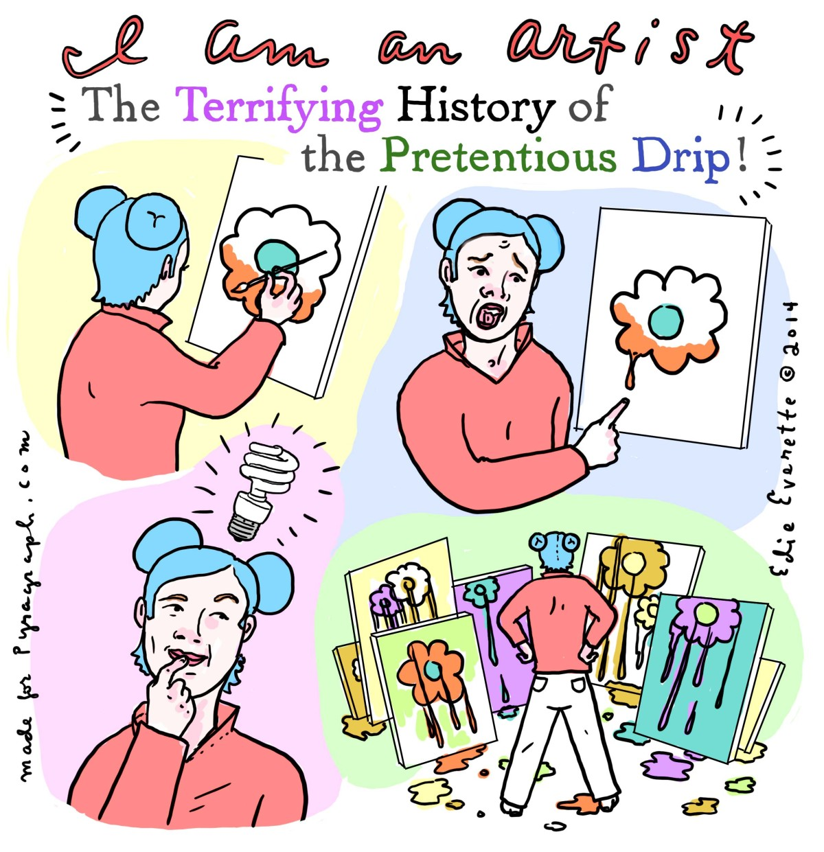 The pretentious drip - Pyragraph