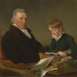 """""""Francis Noel Clarke Mundy and His Grandson, William Mundy"""" by Ramsay Richard Reinagle"""