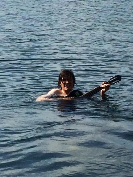 Hope that guitar is waterproof.