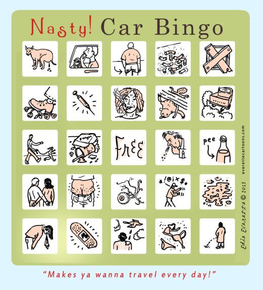 Edie Everette Nasty Car Bingo - Pyragraph