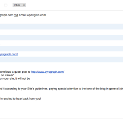 Guest blog spam - Pyragraph
