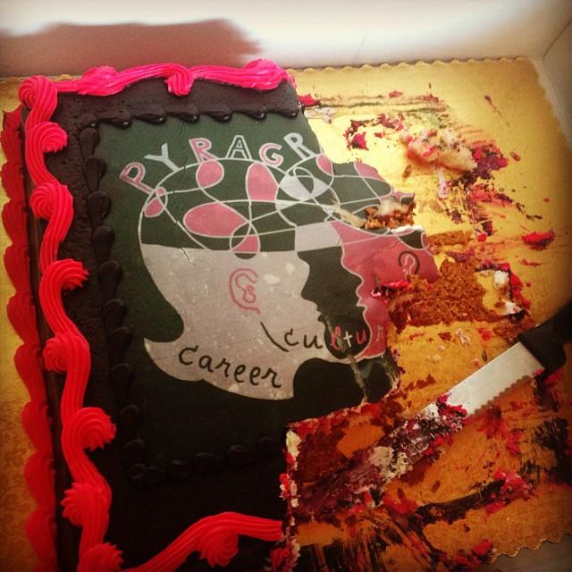 Pyragraph birthday cake - Pyragraph
