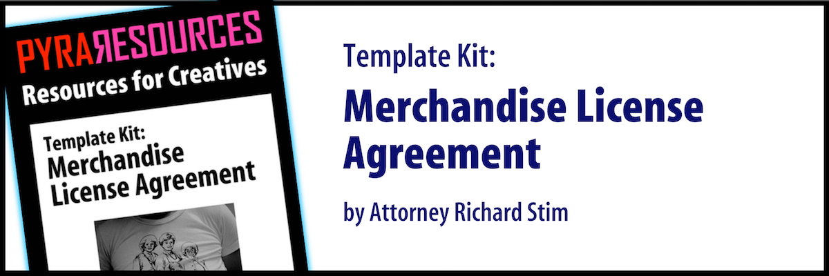Merchandise License Agreement Template Kit  Pyragraph
