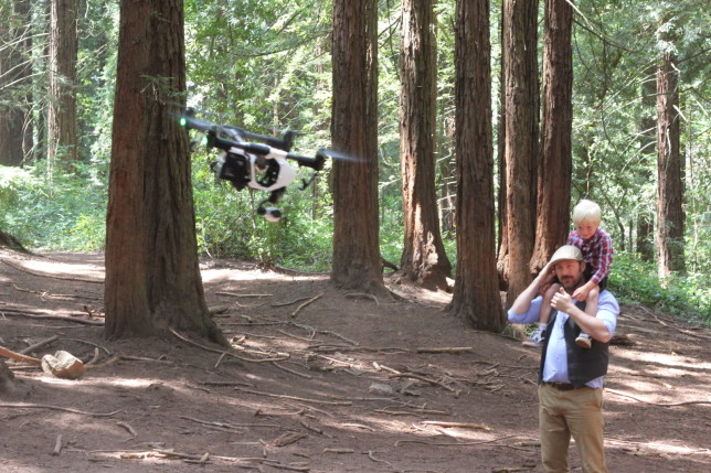 Drone operation. Photo by Bobby Johnsen.