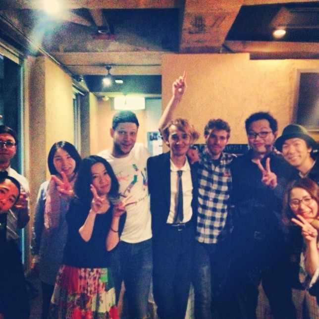 My band with our Japanese record label, Ricco Label. Photo courtesy of Jeremy Young.