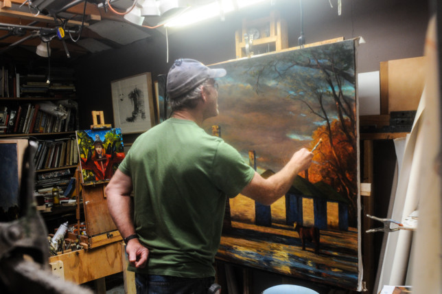 Painter Mark Beck by Clarke Condé - Pyragraph
