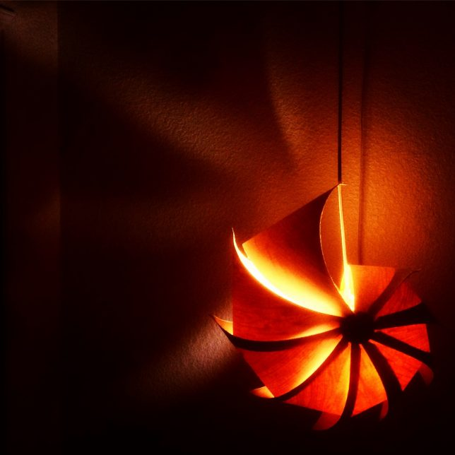 Danny Hart wooden jewelry and light fixtures - Pyragraph