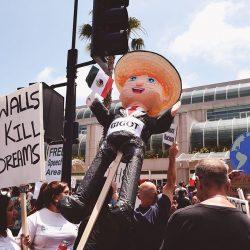 Trump protest in San Diego - Pyragraph
