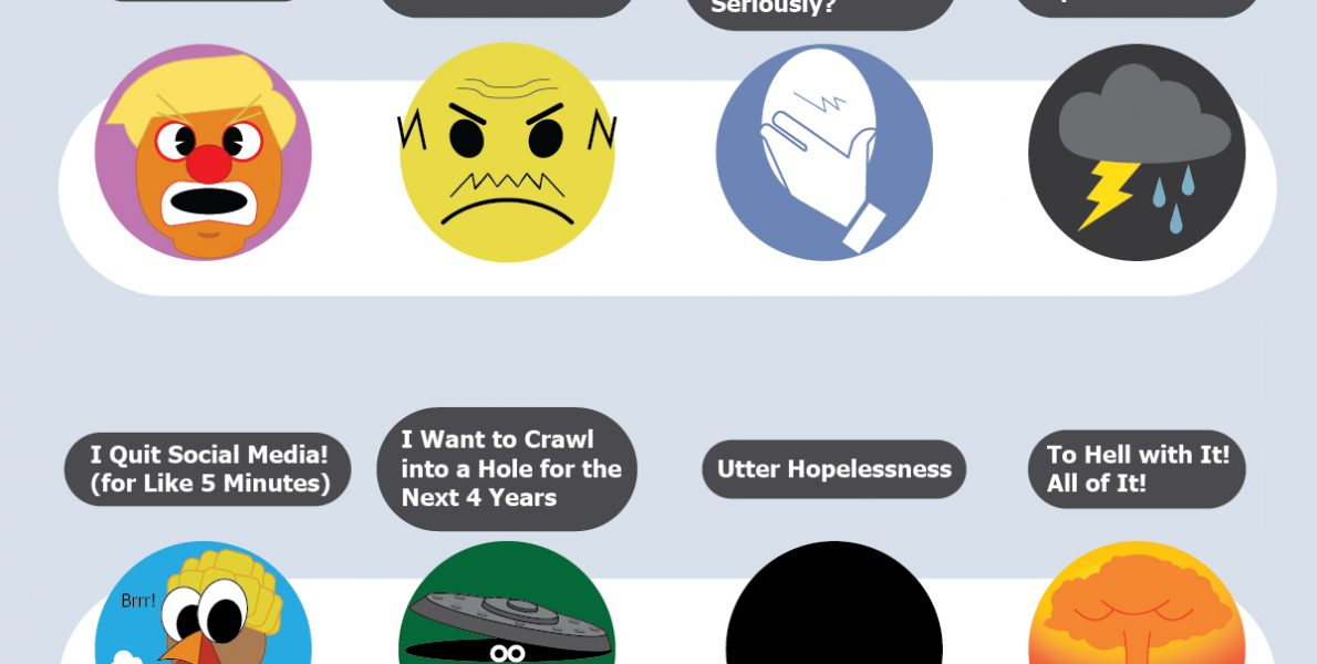 Trump era emoticons by Michael Ellis - Pyragraph