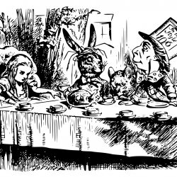 tea party -John Tenniel - Pyragraph