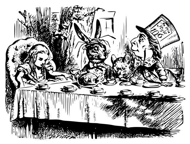 tea party -John Tenniel - Pyragraph