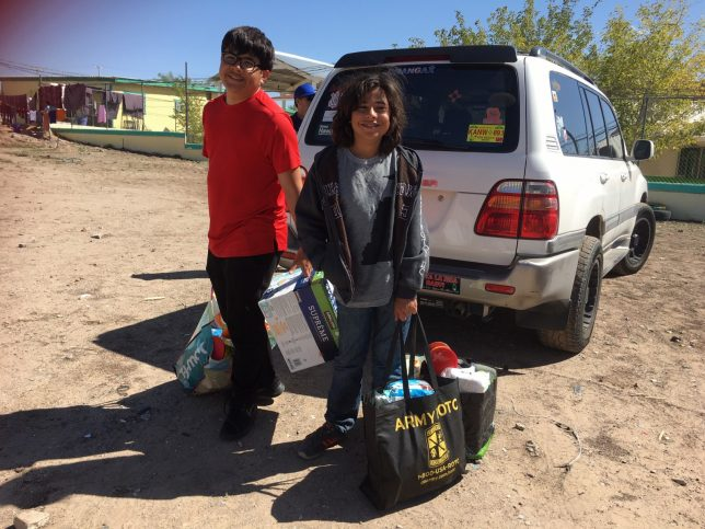 Bringing relief supplies for asylum-seekers at the US-Mexico border - Pyragraph