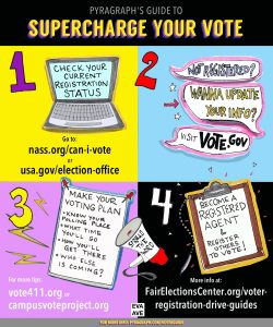 Supercharge Your Vote, illustration by Eva Avenue - Pyragraph
