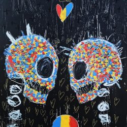 'Lover Skulls' by Jesse Littlebird