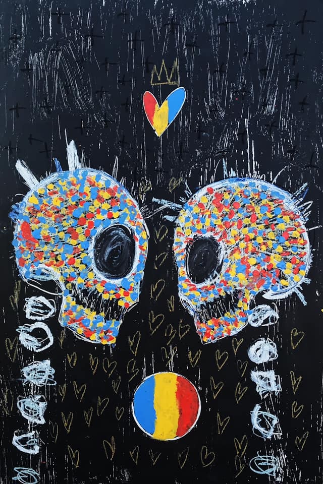 'Lover Skulls' by Jesse Littlebird