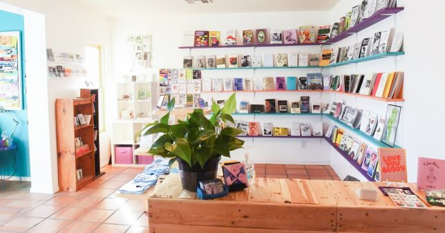 Interior shot of Wasted Ink Zine Distro - Pyragraph